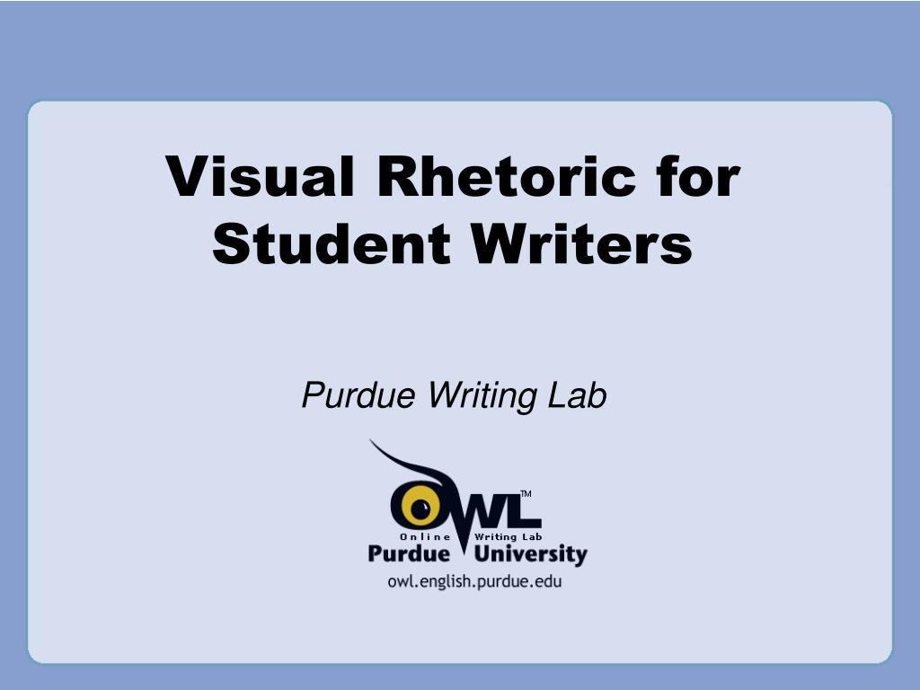 visual rhetoric for student writers l.