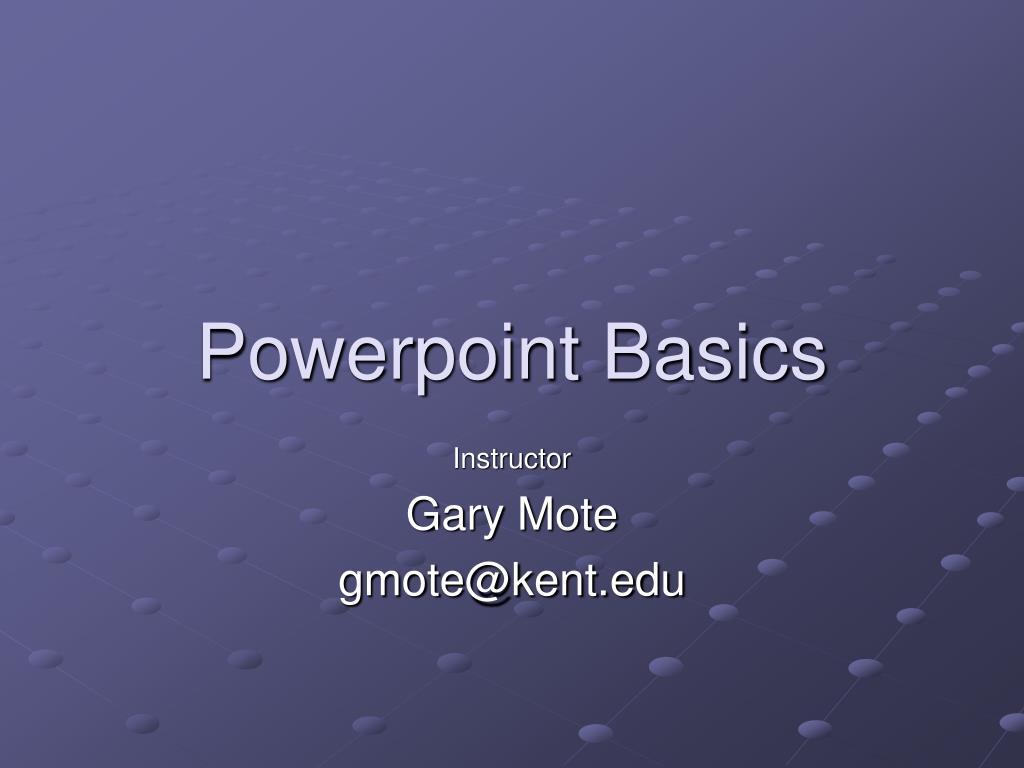 powerpoint basics l.