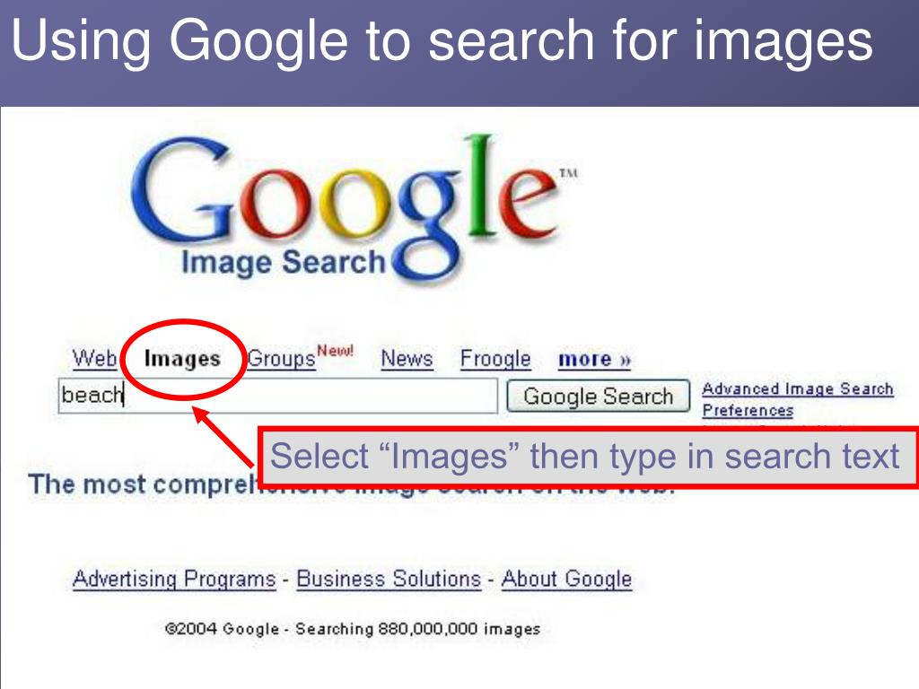 Using Google to search for images