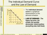 the individual demand curve and the law of demand1