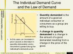 the individual demand curve and the law of demand2