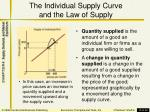 the individual supply curve and the law of supply2