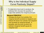 why is the individual supply curve positively sloped
