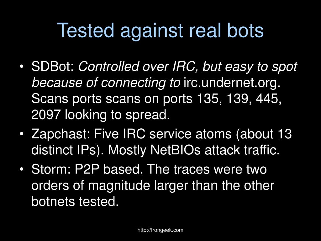 Tested against real bots