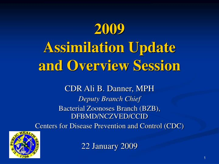 2009 assimilation update and overview session