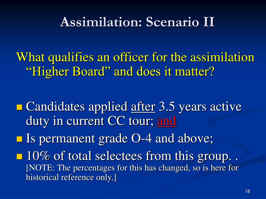 Assimilation: Scenario II