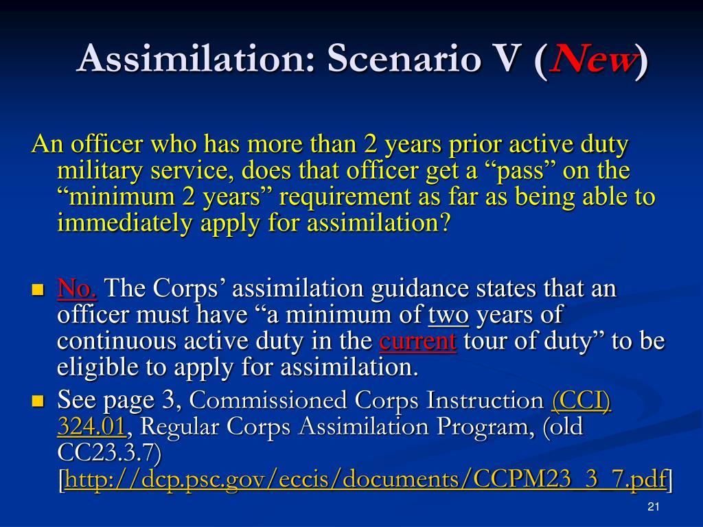 Assimilation: Scenario V (