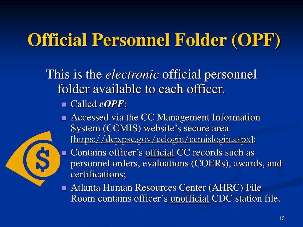 Official Personnel Folder (OPF)