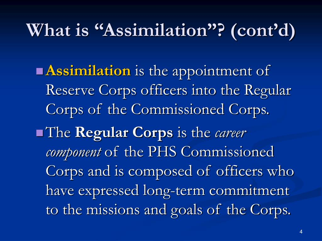 """What is """"Assimilation""""? (cont'd)"""