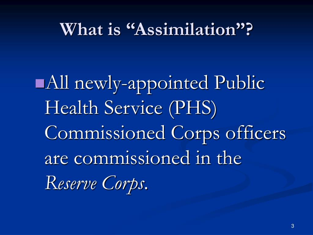"""What is """"Assimilation""""?"""