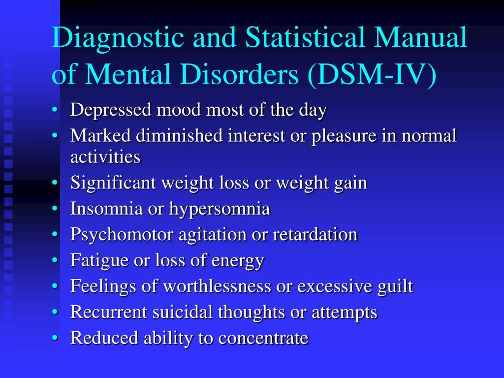 Diagnostic and Statistical Manual of Mental Disorders (DSM-IV)