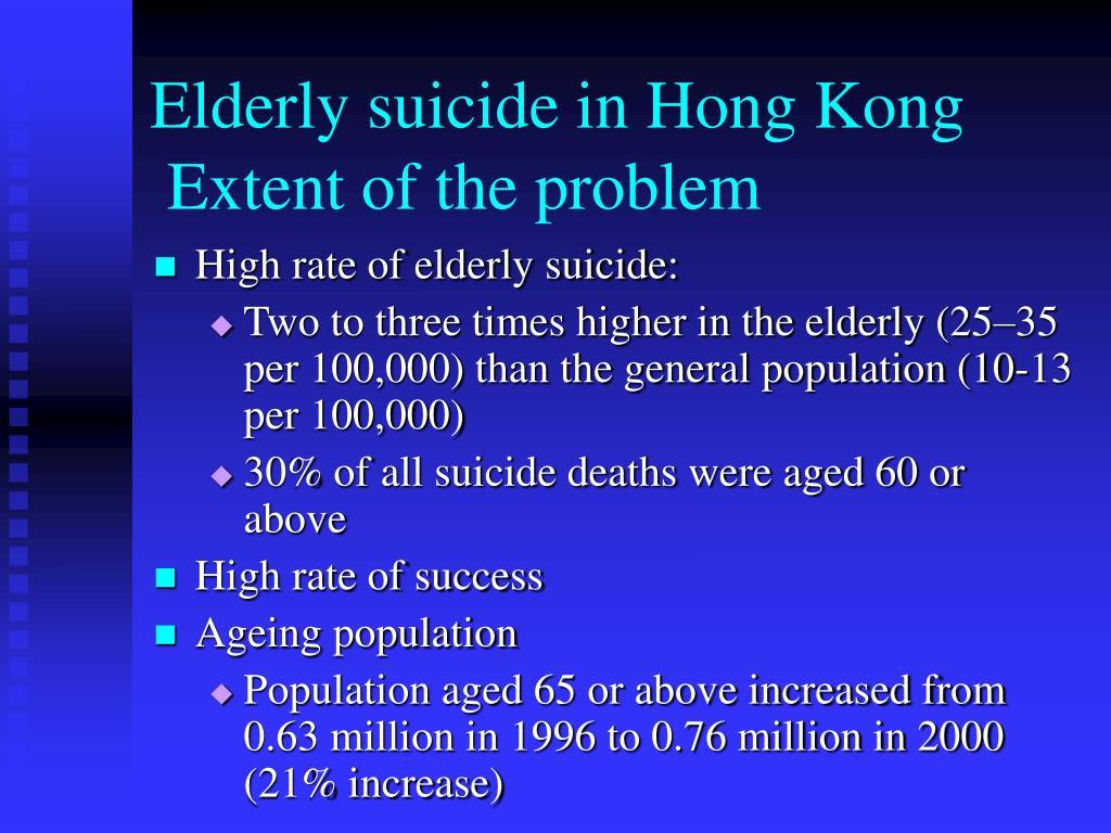 Elderly suicide in Hong Kong