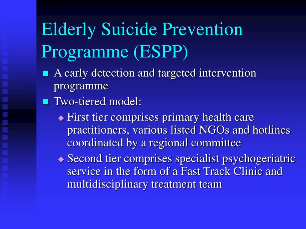 Elderly Suicide Prevention Programme (ESPP)