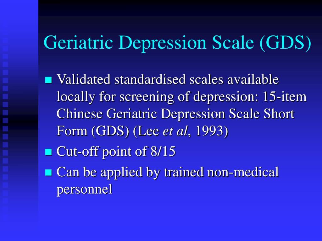 Geriatric Depression Scale (GDS)