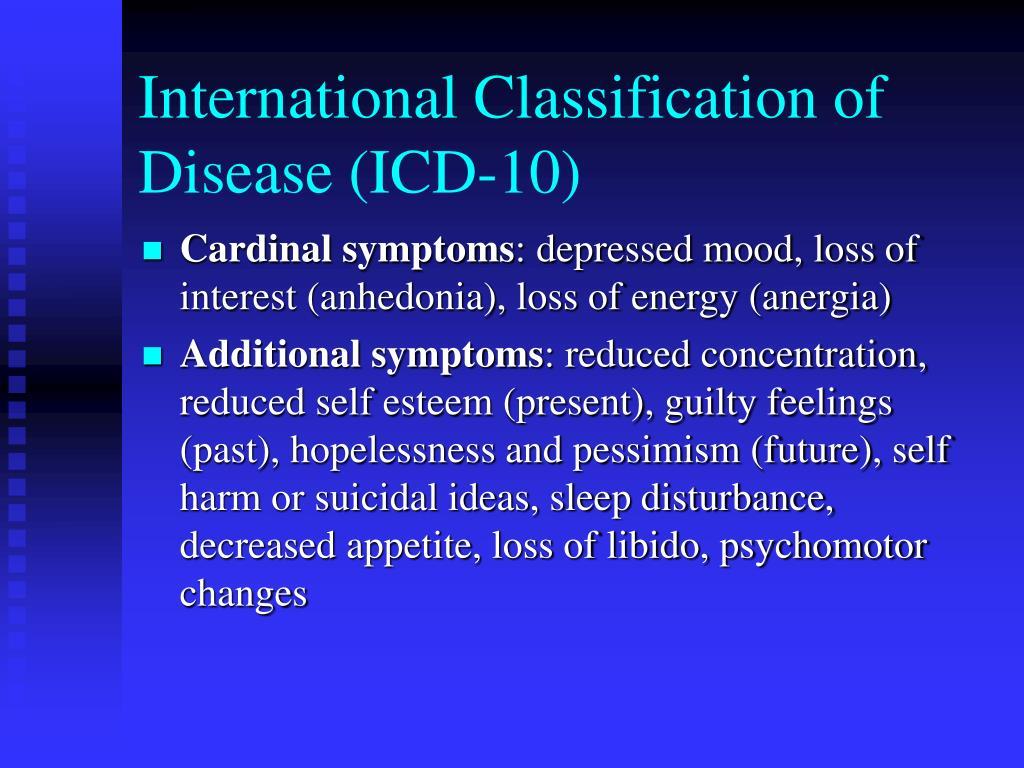 International Classification of Disease (ICD-10)