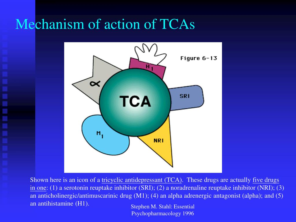 Mechanism of action of TCAs