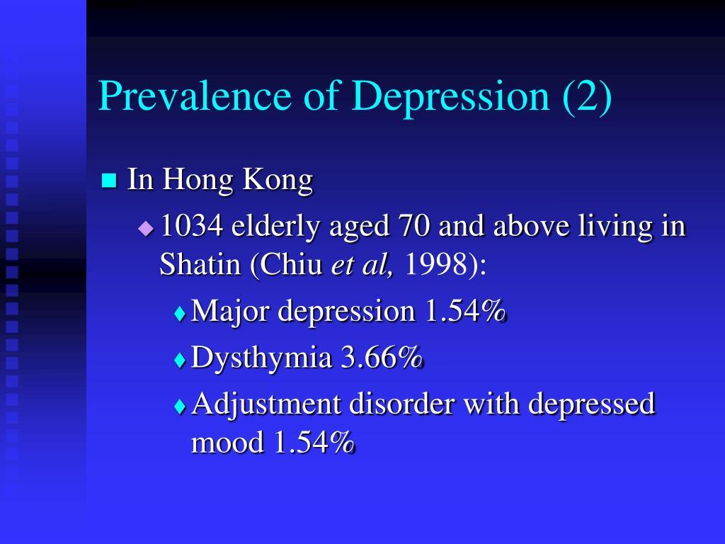 Prevalence of Depression (2)