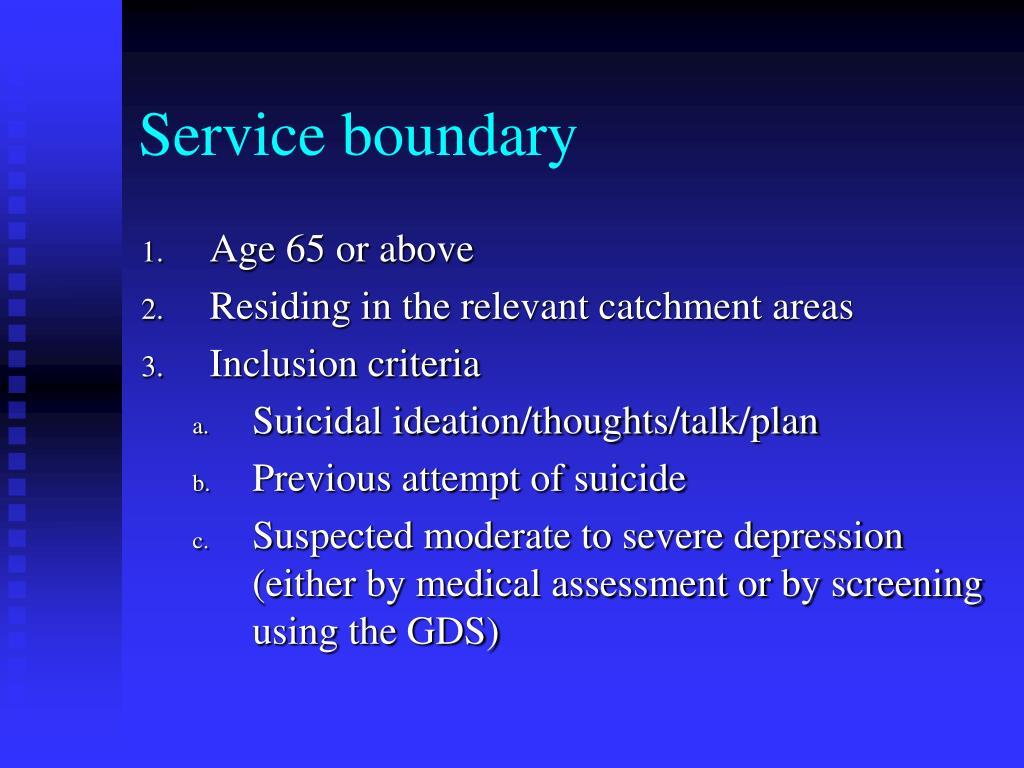 Service boundary