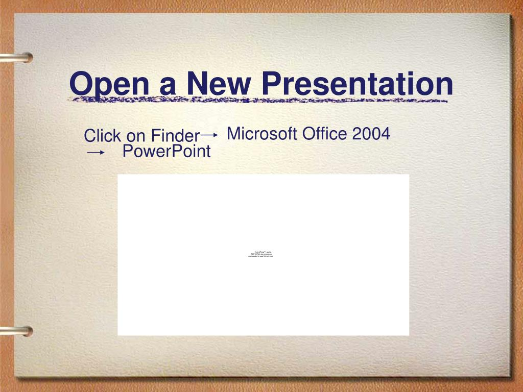 Open a New Presentation