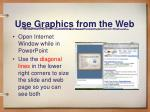 use graphics from the web