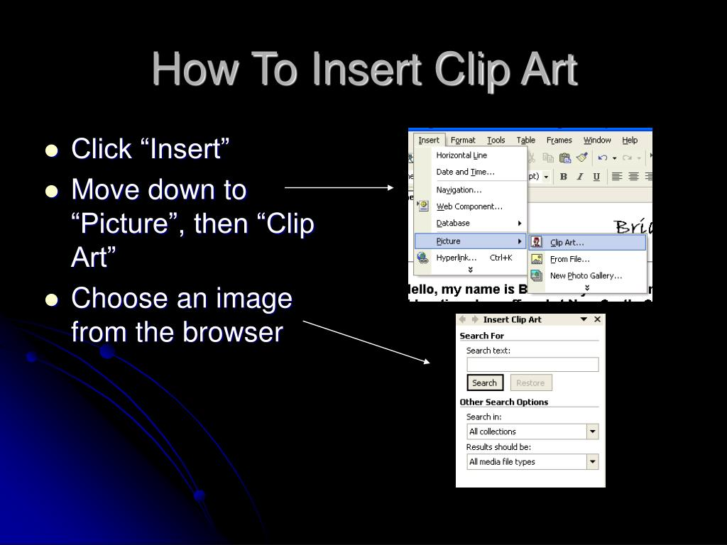 How To Insert Clip Art