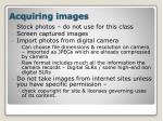 acquiring images
