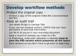develop workflow methods20