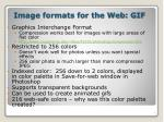 image formats for the web gif