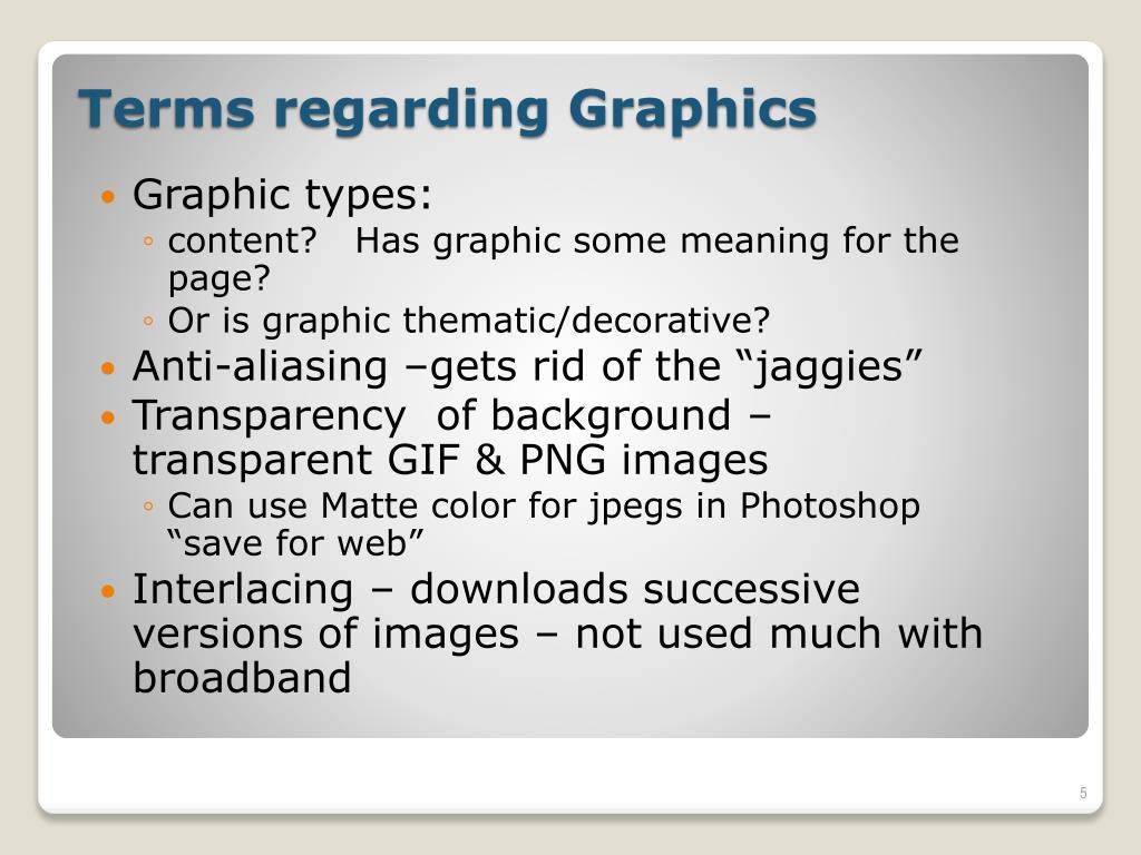 Graphic types: