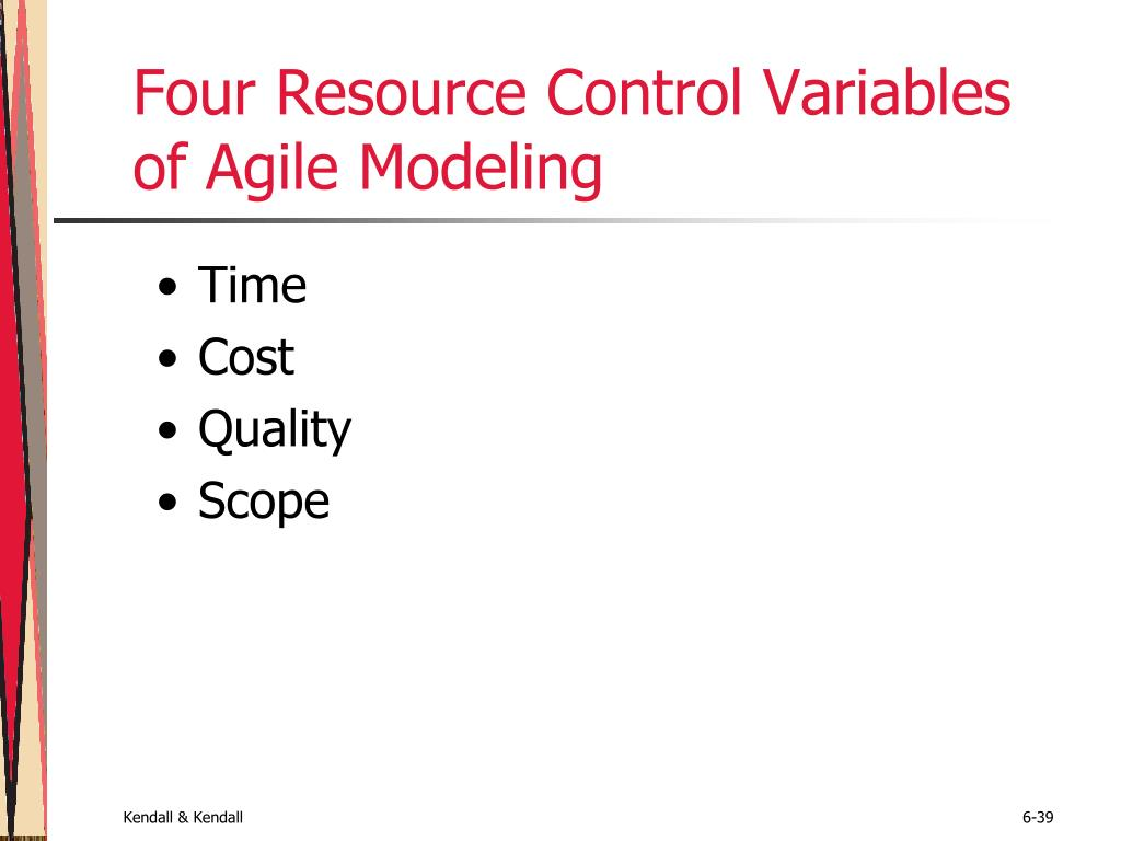 Four Resource Control Variables of Agile Modeling