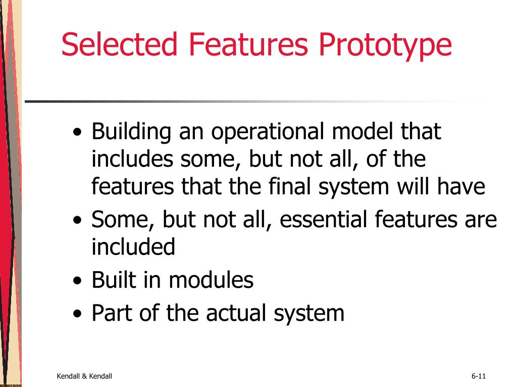 Selected Features Prototype