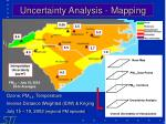 uncertainty analysis mapping