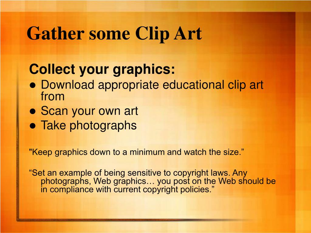 Gather some Clip Art