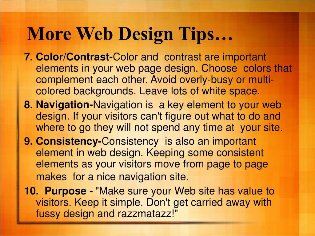 More Web Design Tips…