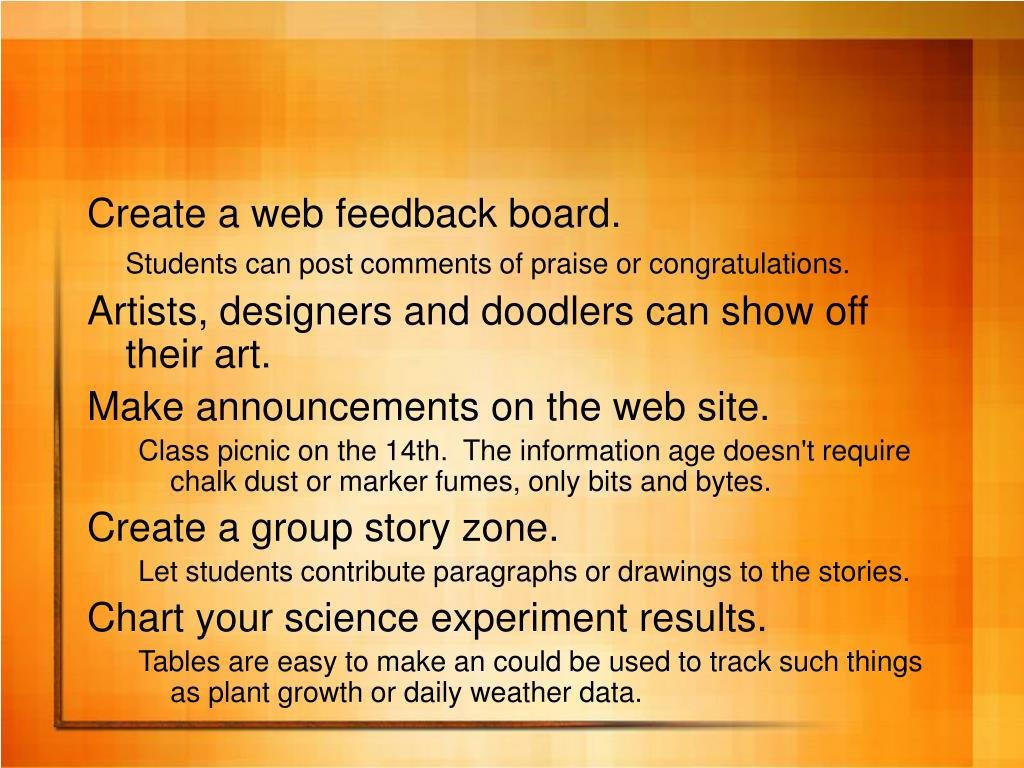 Create a web feedback board.