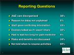 reporting questions