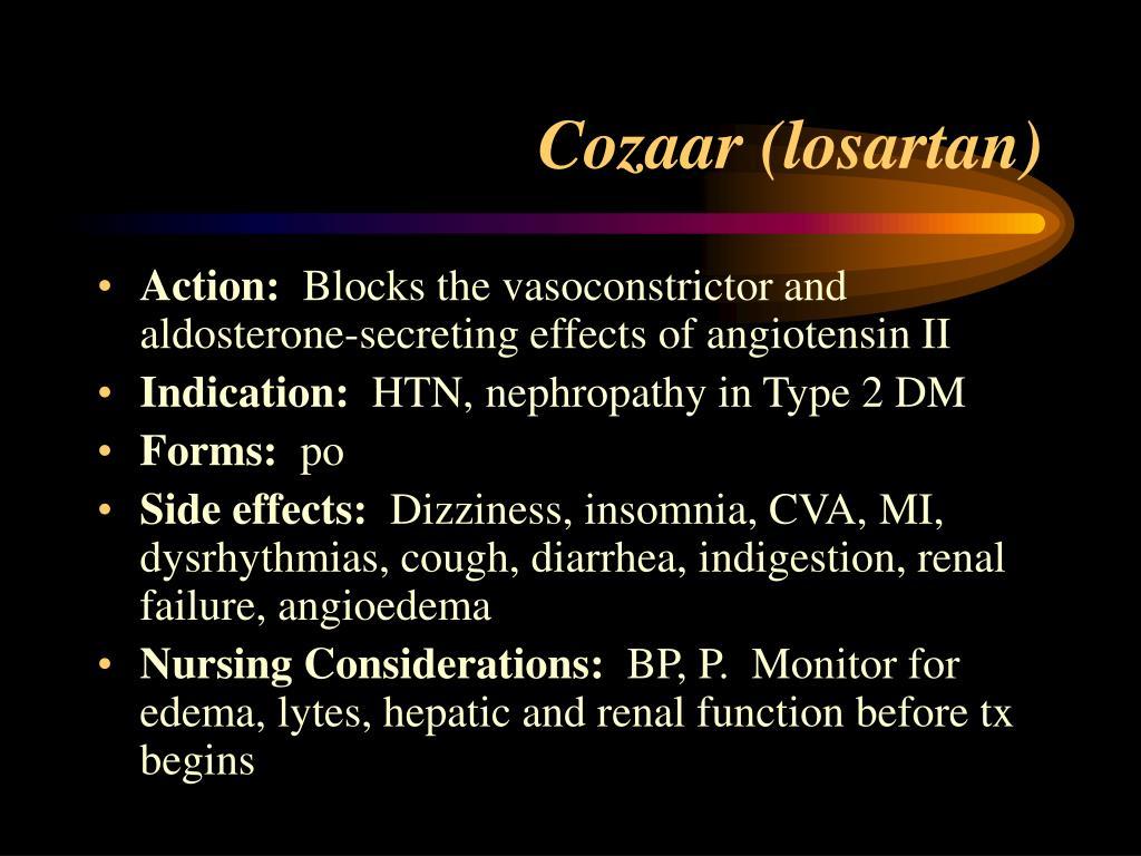 Cozaar Side Effects Forum