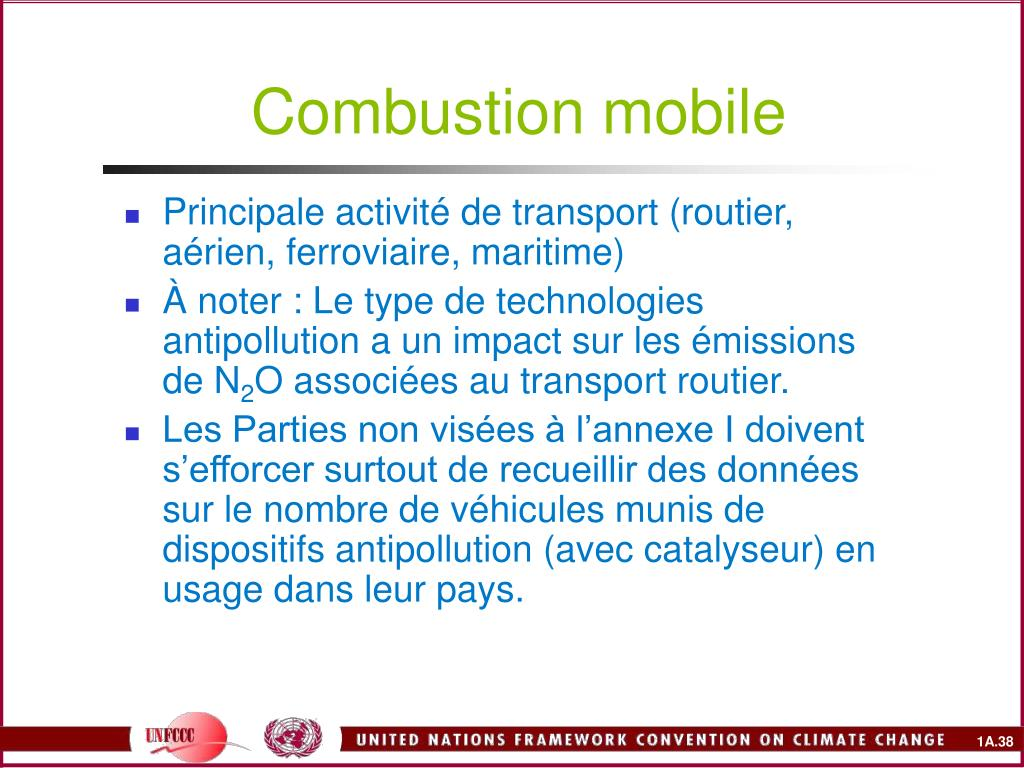 Combustion mobile