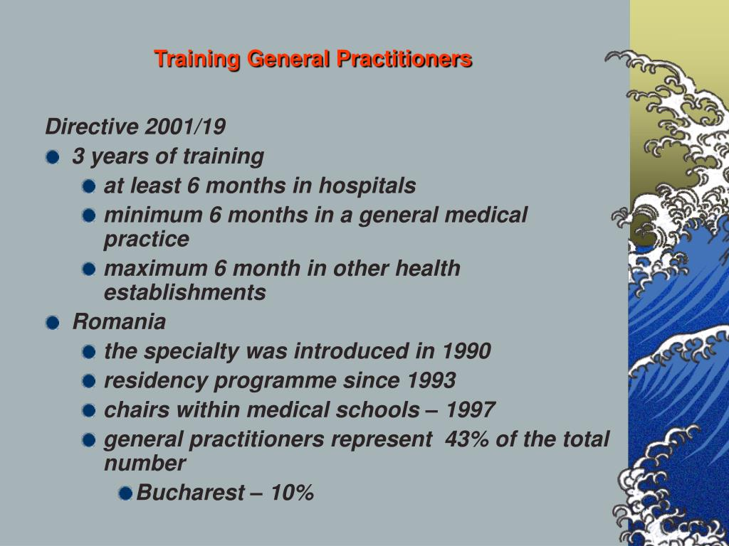 Training General Practitioners