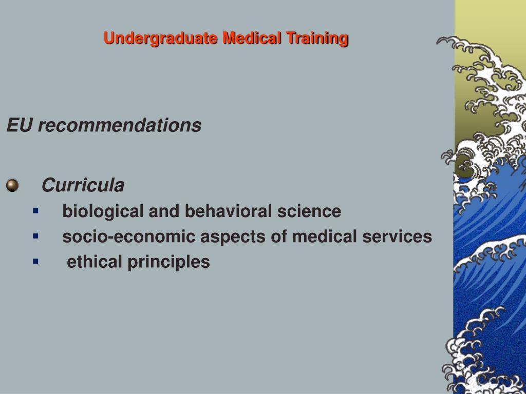 Undergraduate Medical Training