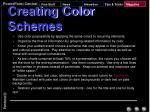 creating color schemes