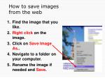 how to save images from the web