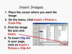 insert images