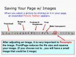 saving your page w images
