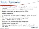 benefits business value