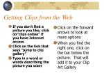 getting clips from the web