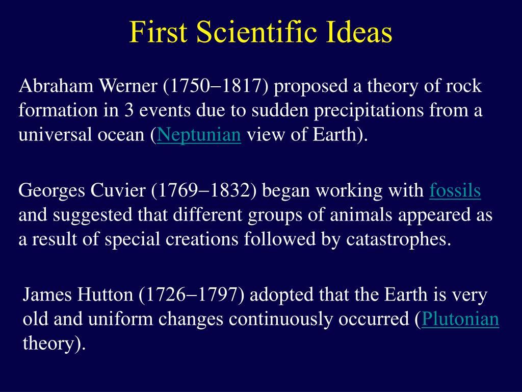 First Scientific Ideas