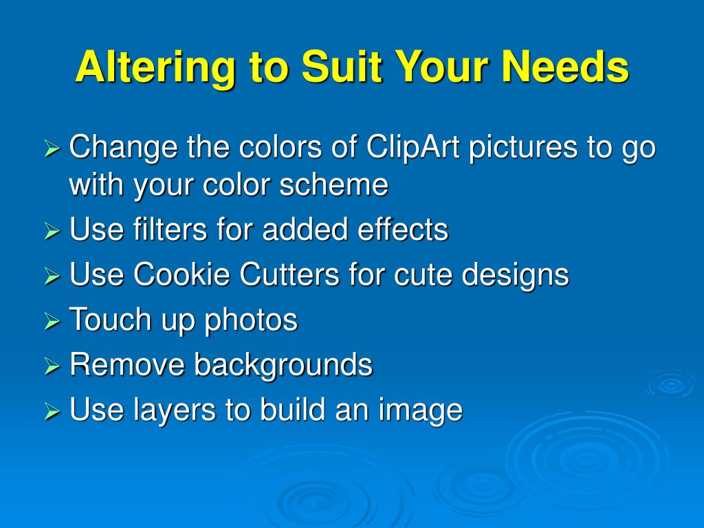 Altering to Suit Your Needs