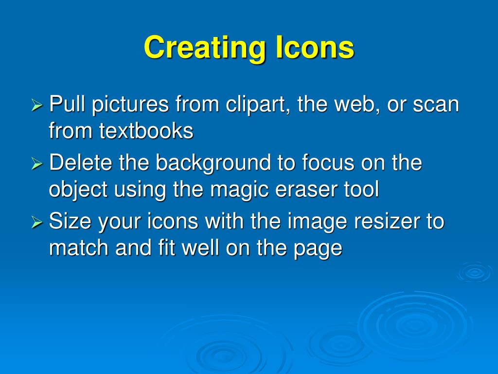 Creating Icons