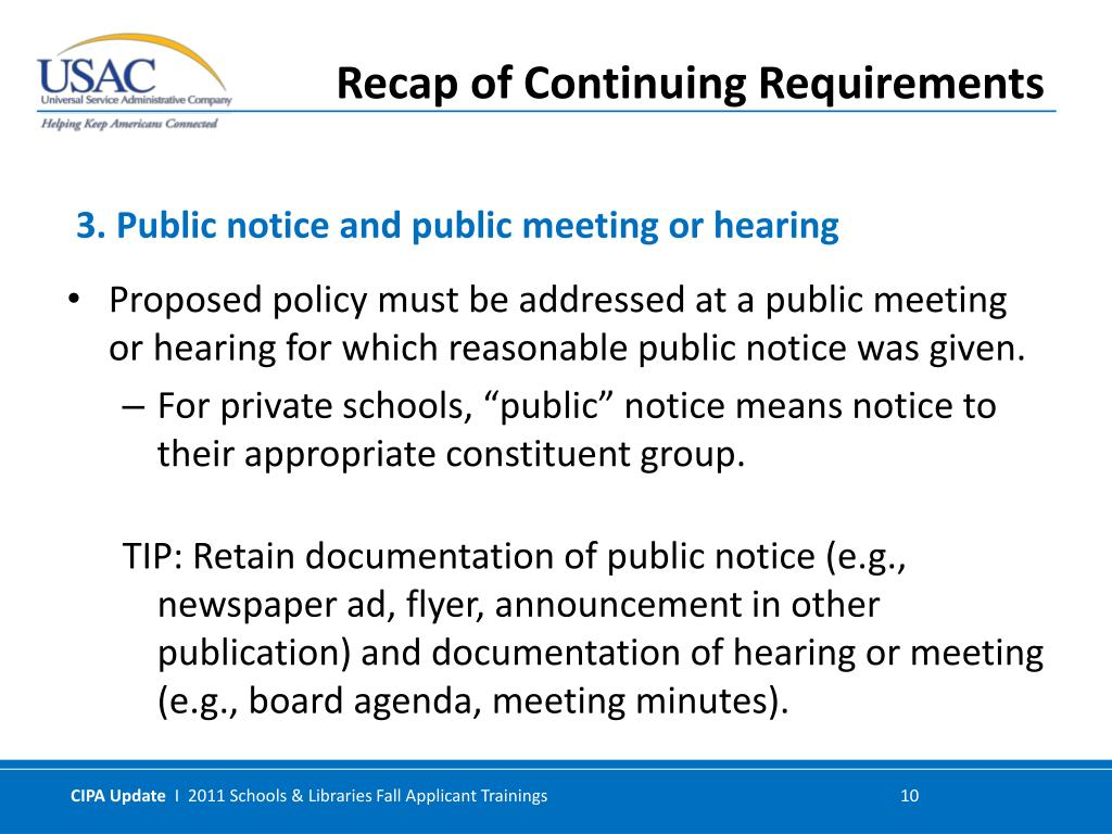 Proposed policy must be addressed at a public meeting or hearing for which reasonable public notice was given.
